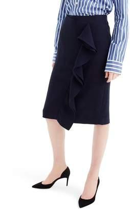 J.Crew J. Crew 365 Crepe Ruffle Pencil Skirt