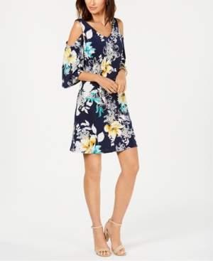 Connected Cold-Shoulder A-Line Dress
