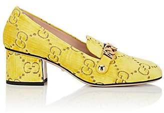 Gucci Women's Sylvie Embossed Velvet Pumps - Yellow