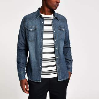 Levi's Mens dark Blue denim shirt