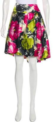 Milly Knee-Length Floral Print Skirt