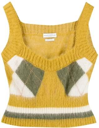Ballantyne argyle knit top