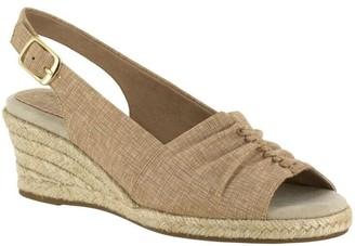 Easy Street Shoes Slingback Wedge Espadrilles - Kindly