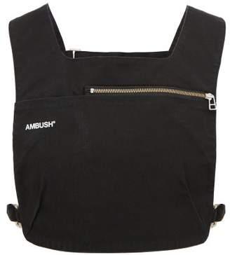 Ambush Bag Zipped Cotton Canvas Gilet - Mens - Black