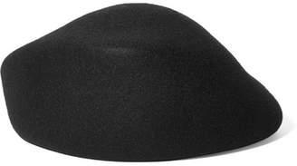 CLYDE Sazy Wool-felt Beret - Black