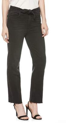 Paige Margot Knot High Waist Straight Leg Jeans