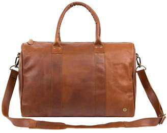 MAHI Leather - Leather Cortes Overnight Bag In Vintage Brown