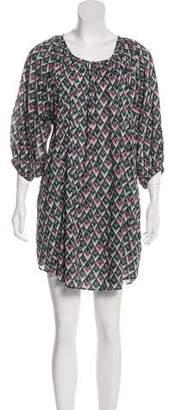 Etoile Isabel Marant Long Sleeve Printed Dress