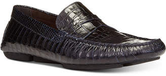 Donald J Pliner Men's Vinco Croc-Embossed Penny Drivers Men's Shoes