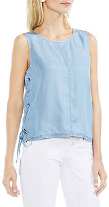 Vince Camuto Sleeveless Lace-Up Tank Top