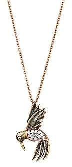 Kismet by Milka Women's 14K Rose Gold & Diamond Bird Pendant Necklace