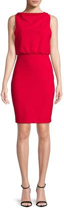 Badgley Mischka Women's Boatneck Sheath Dress