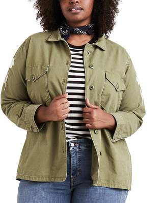 Levi's Levis Plus Size Military Shirt Jacket