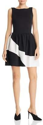 Aqua Color-Block Fit-and-Flare Dress - 100% Exclusive