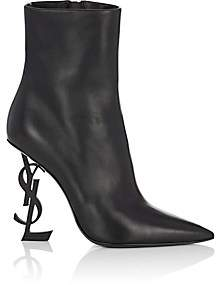 Saint Laurent Women's Opyum Leather Ankle Boots - Black