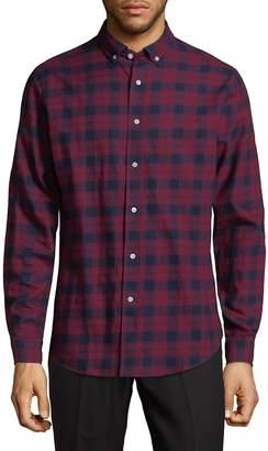 Slate & Stone Men's Plaid Cotton Button-Down Shirt