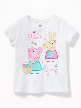 "Old Navy Peppa Pig ""Hello Spring"" Graphic Tee for Toddler Girls"