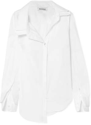 Monse Asymmetric Stretch-cotton Poplin Shirt - White