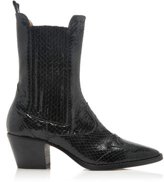 b73773569 Paris Texas Snake-Effect Patent Leather Boots