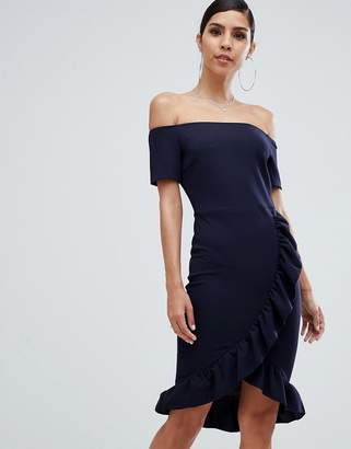 AX Paris Bardot Dress With Frill Detail