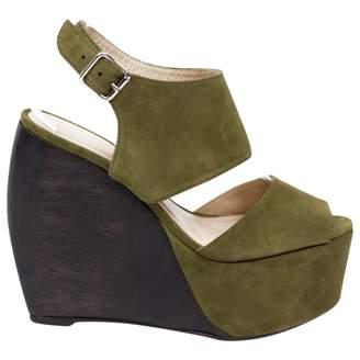 Suno Green Suede Heels