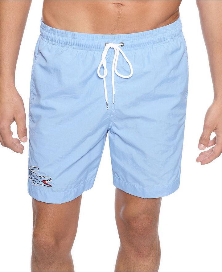 Lacoste Swimwear, Large Croc Swim Trunk
