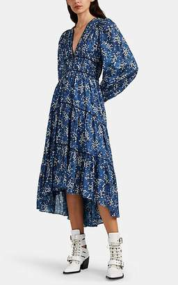 Ulla Johnson Women's Joan Floral Cotton-Silk Dress - Blue
