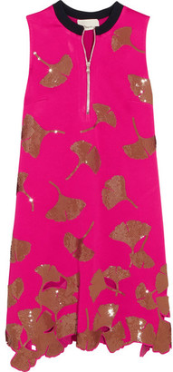 3.1 Phillip Lim - Gingko Sequin-embellished Satin Mini Dress - Fuchsia $895 thestylecure.com