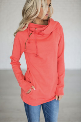 DoubleHoodTM Sweatshirt - Coral $54.99 thestylecure.com
