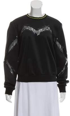 Versace Satin Lace Trim Pullover
