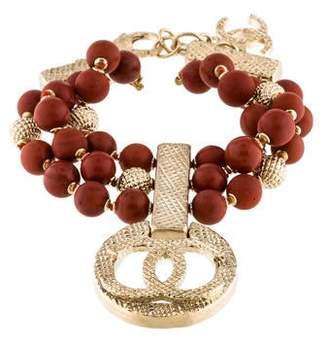 Chanel CC Jasper Bead Multistrand Bracelet