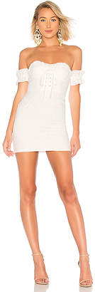 LPA Fitted Lace Up Dress