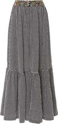 Missoni Mare Gingham Seersucker Maxi Skirt