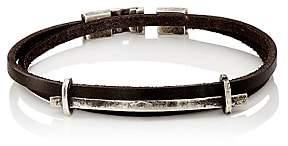 Zadeh Men's Double-Wrap Bracelet-Black