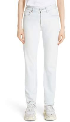 Balenciaga Destroyed Hem Straight Leg Jeans