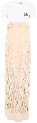 Prada Jersey And Chiffon Dress