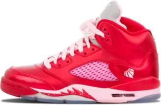 Jordan Girls Air 5 Retro (GS) 'Valentine's Day' - Gym Red/Ion Pink