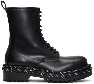 Balenciaga Black Laces Boots
