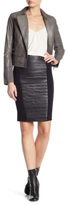 Muu Baa Muubaa Leather Panel Skirt