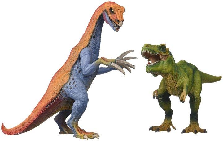 Schleich US Therizinosaurus and T-Rex Set Toy Figure