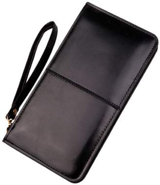 ABC Women New Retro Leather Stitching Wallet Long Card Lady Holder Purse