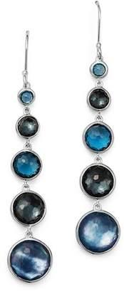 Ippolita Sterling Silver Lollipop Lapis Triplet, London Blue Topaz & Hematite Earrings in Eclipse