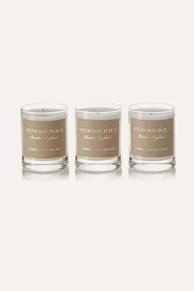 Burberry Purple Hyacinth, Highland Berry And English Rose Set Of Three Scented Candles, 3 X 65g - Colorless