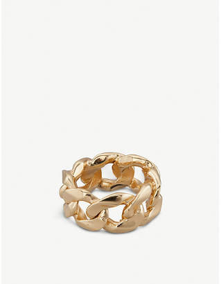 Emanuele Bicocchi 24ct yellow-gold plated chain ring
