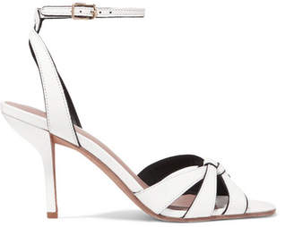 Diane von Furstenberg Felicity Leather Sandals - White