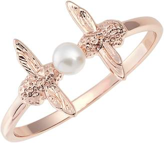 Olivia Burton Freshwater Pearl Double Bee Ring