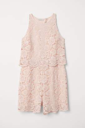H&M Lace Jumpsuit - Pink
