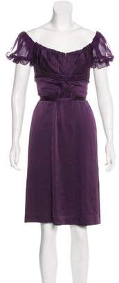 Alberta Ferretti Silk Knee-Length Dress