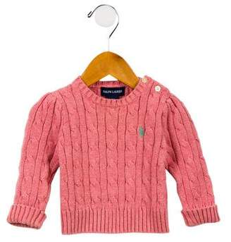 Ralph Lauren Girls' Cable Knit Sweater