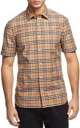 Burberry Alexander New Core Check Regular Fit Button-Down Shirt